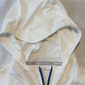 adidas Jackets & Coats - Adidas Running, Men's hoodie size M, blue  White